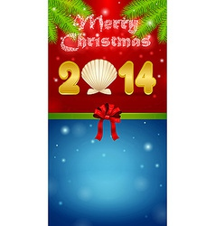Merry Christmas 2014 gift vector image