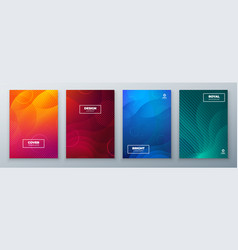 minimal modern cover design dynamic colorful vector image