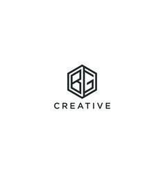 Modern logo letter initials bg vector