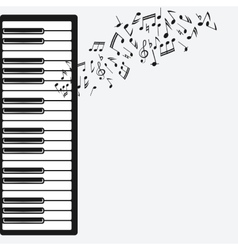 music background with piano vector image