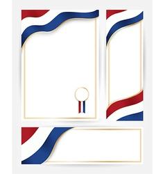Netherlands flag banners set vector