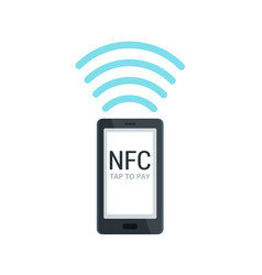 Nfc and mobile payment flat isolated concept near vector