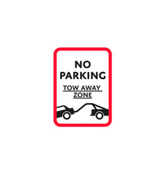 no parking zone roadsign isolated vector image