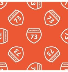 Orange interstate 73 pattern vector
