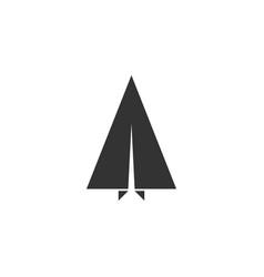 paper plane icon flat vector image