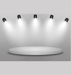 pedestal with spotlights vector image