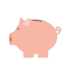 Piggy icon Financial item design graphic vector
