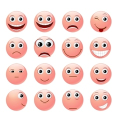 Pink emoticons vector image