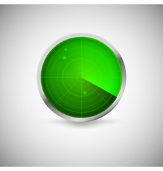Radial screen of green color with targets vector image