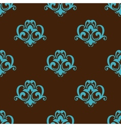Retro azure seamless pattern vector image