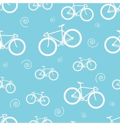 Seamless pattern with bicycle vector image