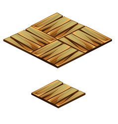 set of floor tile with texture of wooden plank vector image