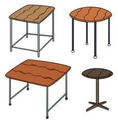 set of table vector image