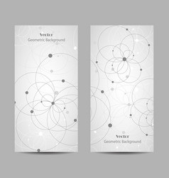 Set vertical banners vector