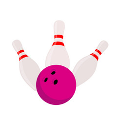 Skittles bowling - strike sport equipment vector