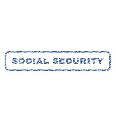 Social security textile stamp vector
