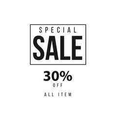 Special sale 30 template design vector