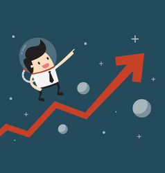 super growth vector image