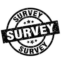 Survey round grunge black stamp vector