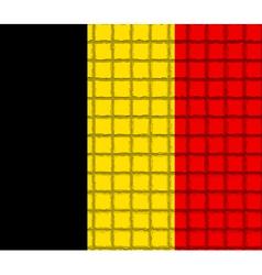 The mosaic flag of Belgium vector