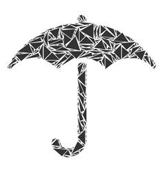 Umbrella collage of triangles vector