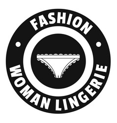 Underpant woman logo simple black style vector