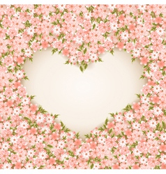 Valentines Day Card With flowers vector image