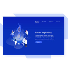 Web banner template with analysts scientists or vector