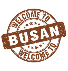 Welcome to busan vector