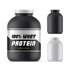 whey protein plastic container mockupsport bottle vector image