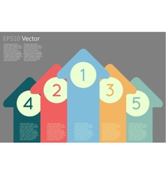 Arrow with numbers vector image