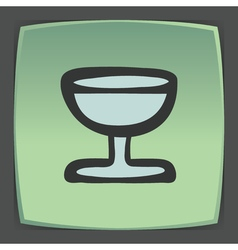 outline wine glass goblet icon Modern infographic vector image vector image