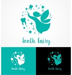 Tooth Fairy with magic wand - make a wish vector image vector image