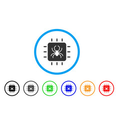 chip bug rounded icon vector image vector image