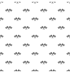 Crossed chequered flags pattern simple style vector