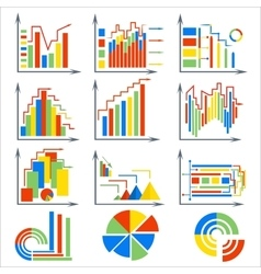 Infographics set elements chart circles vector image