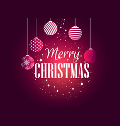 merry christmas background with christmas balls vector image vector image