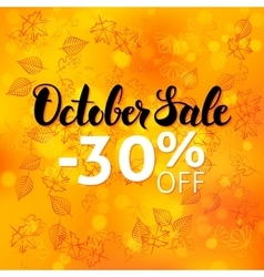 October Sale Poster Blurred Background vector image