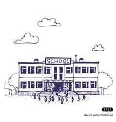 School building vector image vector image