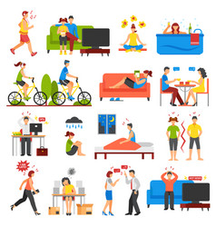 stress and relaxation set vector image vector image