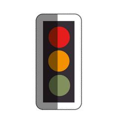 traffic light sign icon vector image