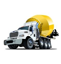 Cartoon mixer truck one click repaint option vector