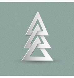 Creative paper Christmas tree vector image vector image