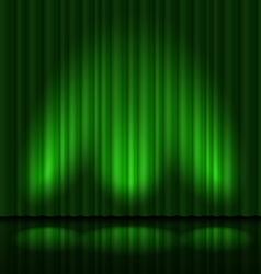Green drapes vector