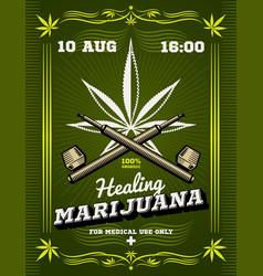 marijuana smoker weeds drug warning vector image