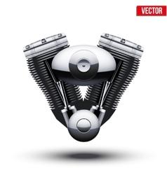 retro motorcycle engine vector image vector image