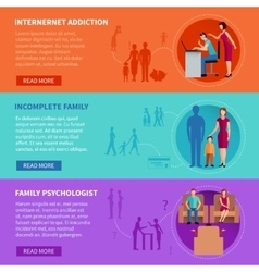 Family Problems Banners vector image vector image