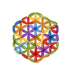 Flower of life sketch for your design vector