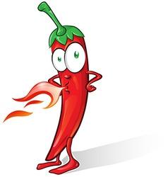 mexican chili cartoon vector image