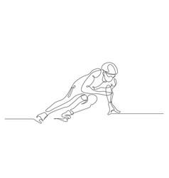 short track winter sport vector image